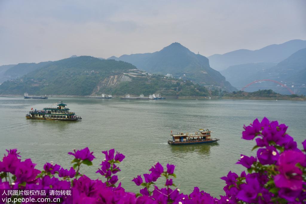长江三峡库区上游水位达到164.66米 又现高峡平湖美景【3】