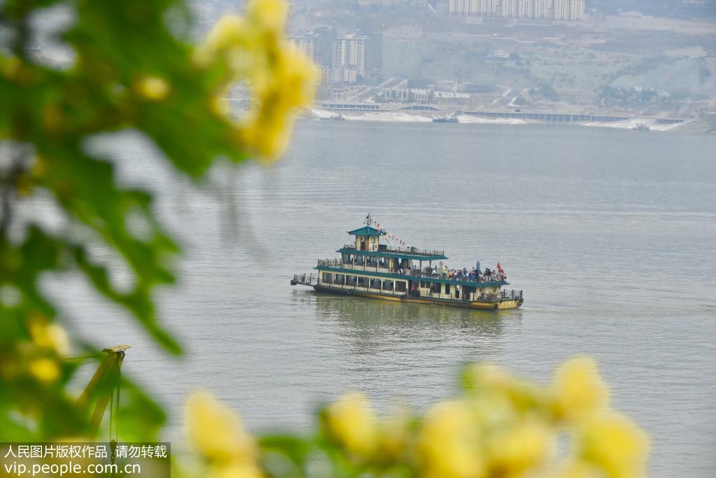 长江三峡库区上游水位达到164.66米 又现高峡平湖美景【2】