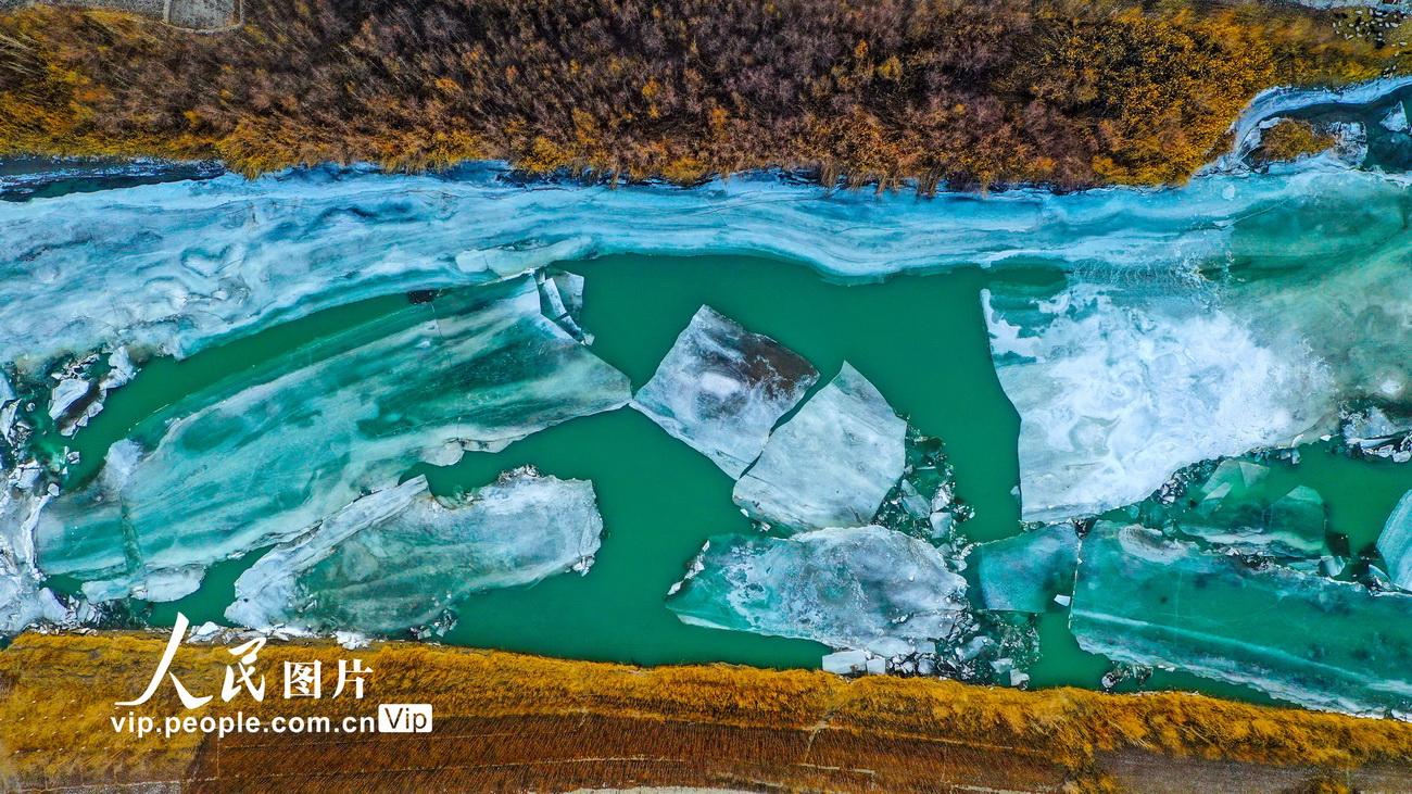 冰化开河万物复苏 新疆开都河冰雪消融