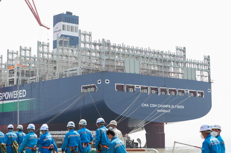 上海江南造船厂新冠疫情后加快复工复产